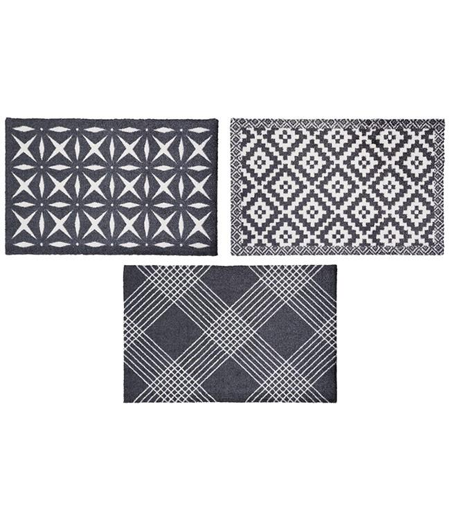 CORYL HOME - 75 x 50 cm. - HOOK - 3PCS ASSORT. - BLACK&WHITE