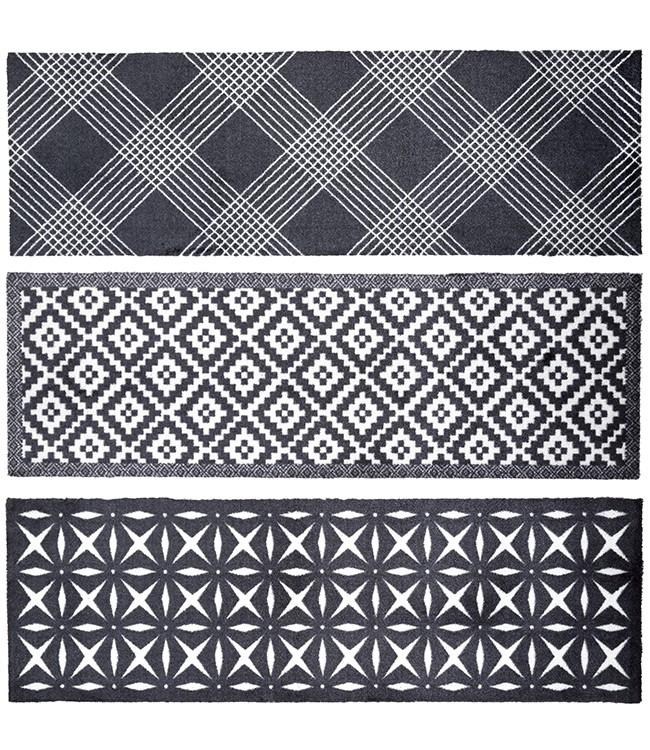 CORYL HOME - 150 x 50 cm. - HOOK - 3PCS ASSORT. -BLACK&WHITE