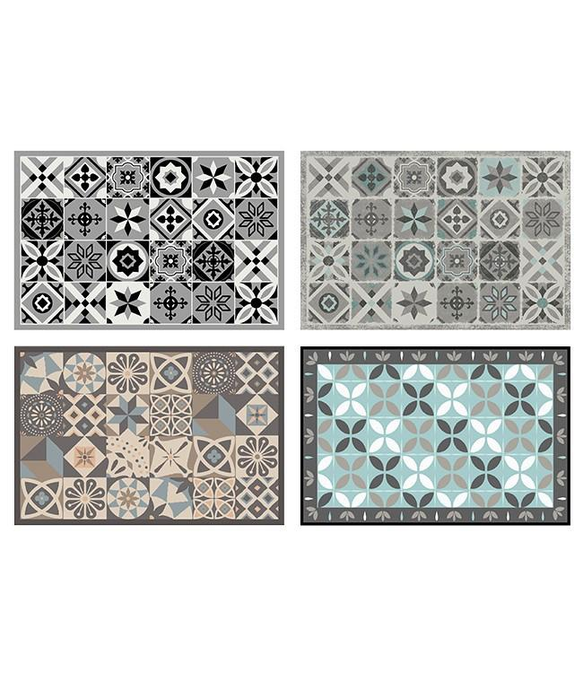 CORYL HOME - 90 x 60 cm. - FLAT - 6PCS ASSORT. - CIMENT
