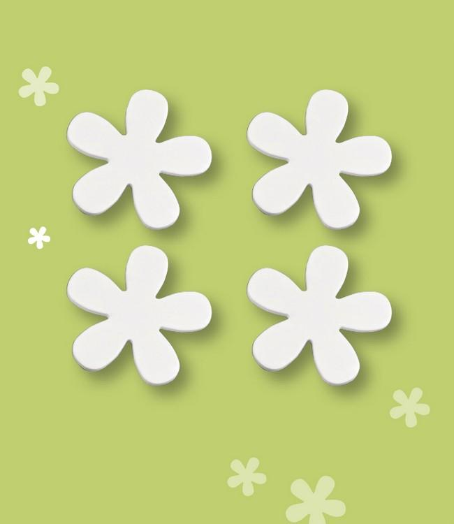 TABLE WEIGHT MAGNET - 12SETS/4PC. - WHITE FLOWER
