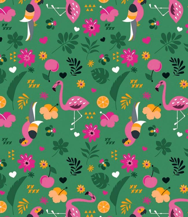 LOLA - 140 cm - 20 m. - EXOTIC GARDEN JUNGLE GREEN