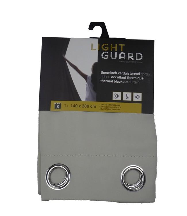 LIGHT GUARD - thermal bo eyelets - 140x280cm - 2pc - CREAM