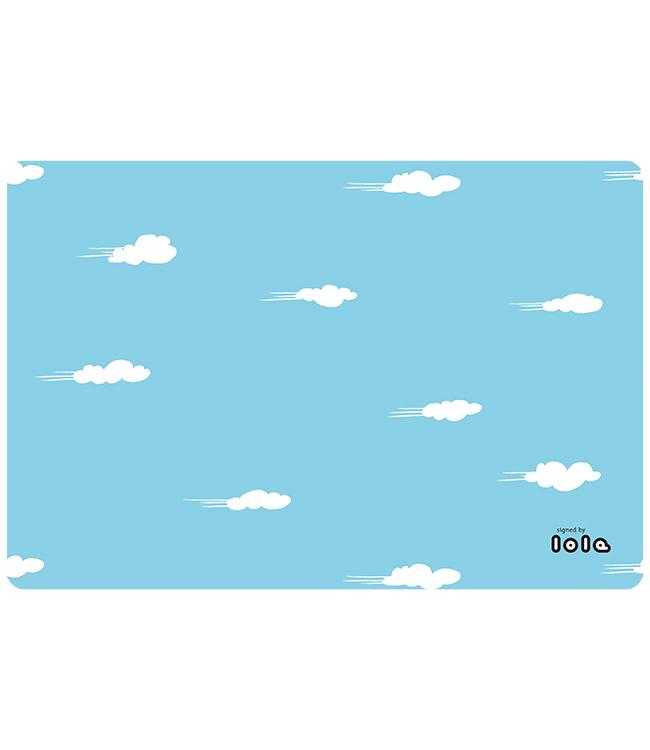 PLACEMATS - NON-SKID - 30x45CM - 12PC. - DAYDREAM SKY BLUE