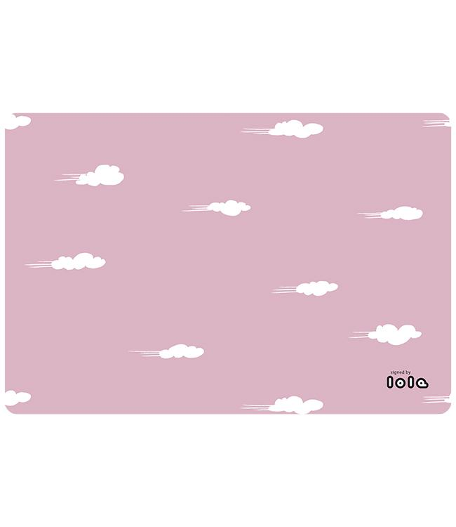 PLACEMATS - NON-SKID - 30x45CM - 12PC. -DAYDREAM MISTY PINK