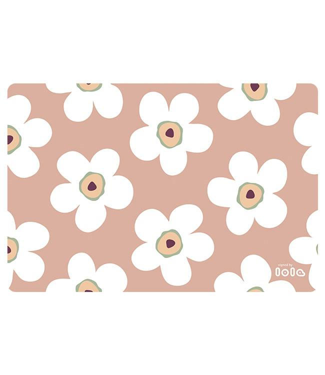 PLACEMATS-NON-SKID-30x45CM-12PC.- SMALL BIG FLOWER ROSEWOOD