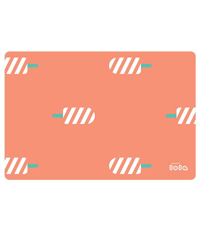 PLACEMATS - NON-SKID-30x45CM - 12PC. -ICE ICE BABY TANGERINE