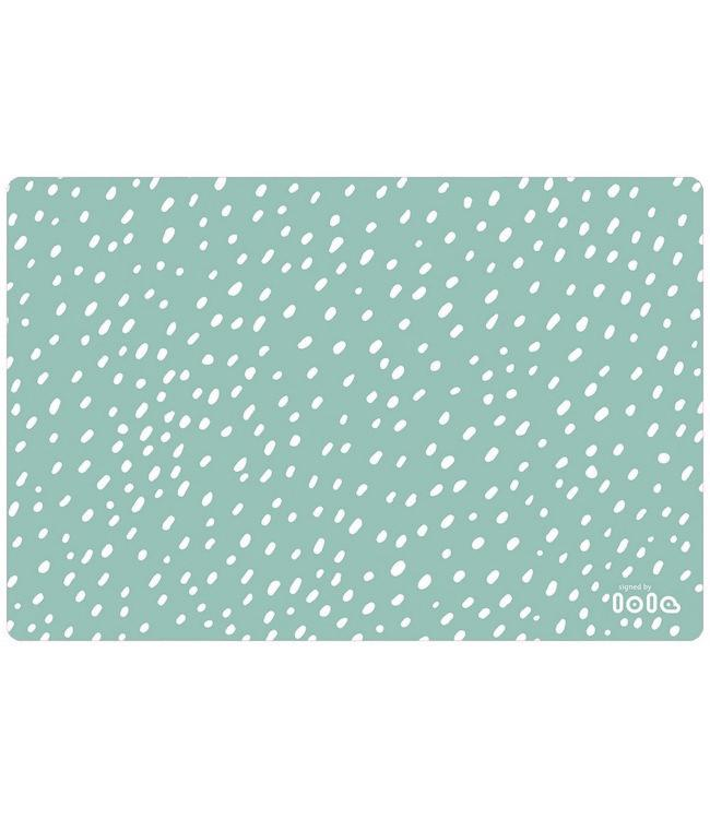 PLACEMATS - NON-SKID - 30x45CM - 12PC. - SPOT ON MINTGREY