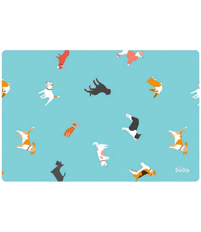 PLACE MAT - non-skid - 30x45cm - 12pc - MUST LOVE DOGS SCU