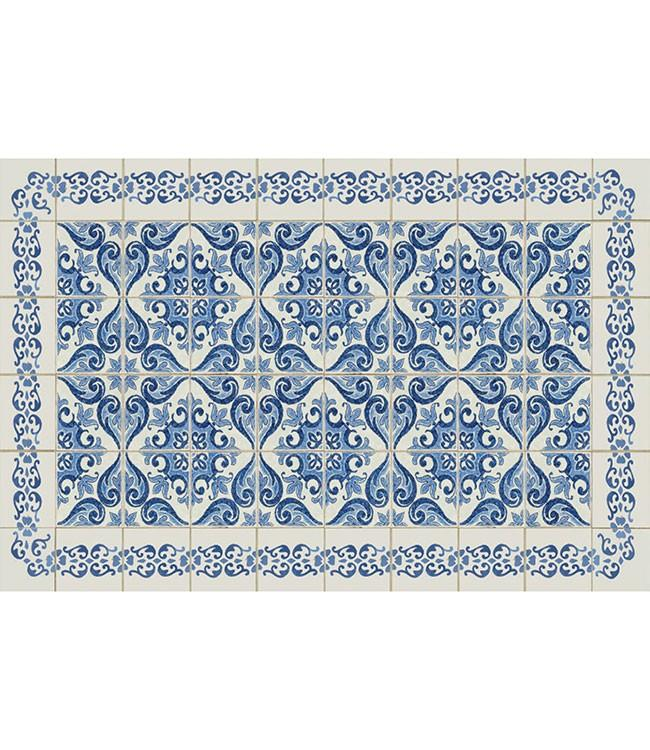 PLACEMATS - NON-SKID - 30x45CM - 12PC. - DELFT BLUE