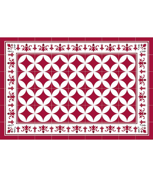 PLACEMATS - NON-SKID - 30x45CM - 12PC. - CORDOBA RED