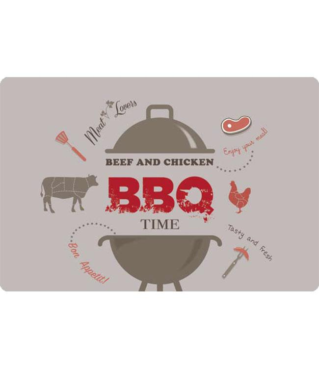 PLACEMATS - NON-SKID - 30x45CM - 12PC. - BBQ TIME