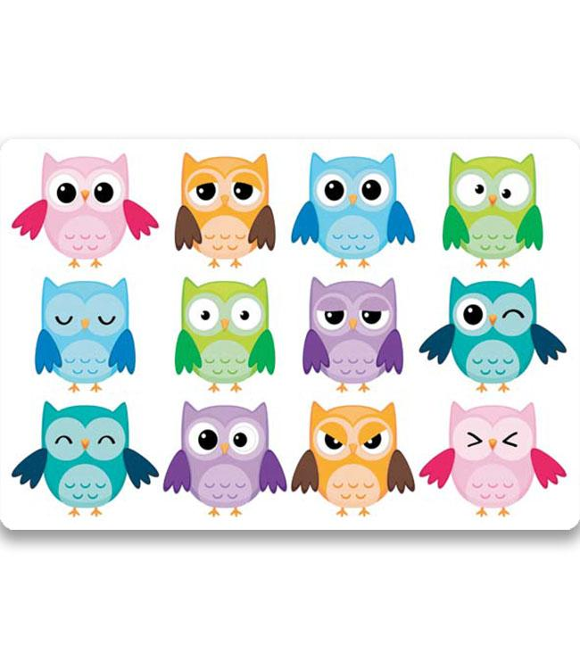 PLACEMATS - NON-SKID - 30x45CM - 12PC. - OWLS