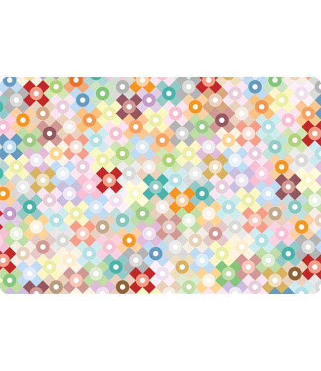 PLACEMATS - NON-SKID - 30x45CM - 12PC. - RAINBOW MONOGRAM