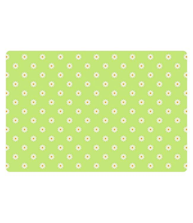 PLACEMATS - NON-SKID - 30x45CM - 12PC. - SMALL DAISY LIME