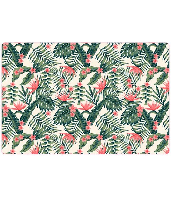 PLACEMATS - NON-SKID - 30x45CM - 12PC. - TROPICAL FLOWERS