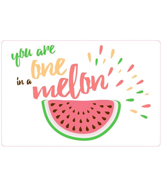 PLACEMATS - NON-SKID - 30x45CM - 12PC. - ONE IN A MELON