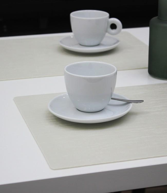 PLACE MAT - POLYLINE - 30x43cm - 12pc - FOREST WHITE