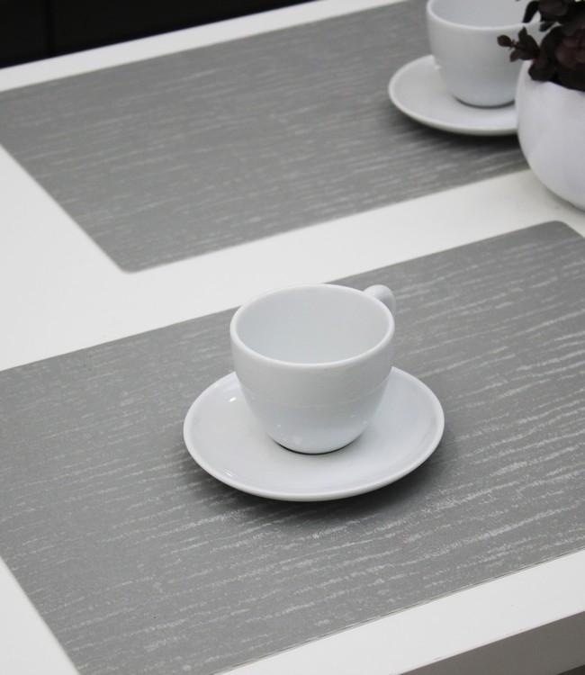 PLACE MAT - POLYLINE - 30x43cm - 12pc - FOREST SILVER