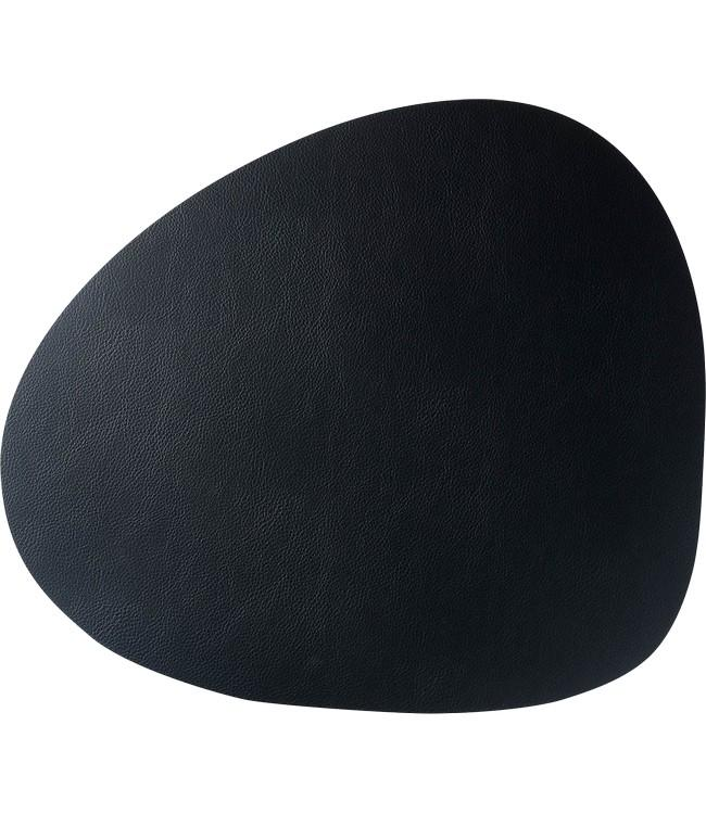 SKINNATUR - coaster pebble - 13x11cm - 12pc - CHARCOAL