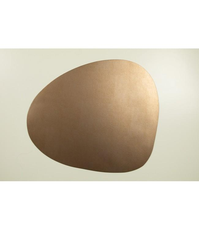 SKINNATUR - coaster pebble - 13x11cm - 12pc - COPPER