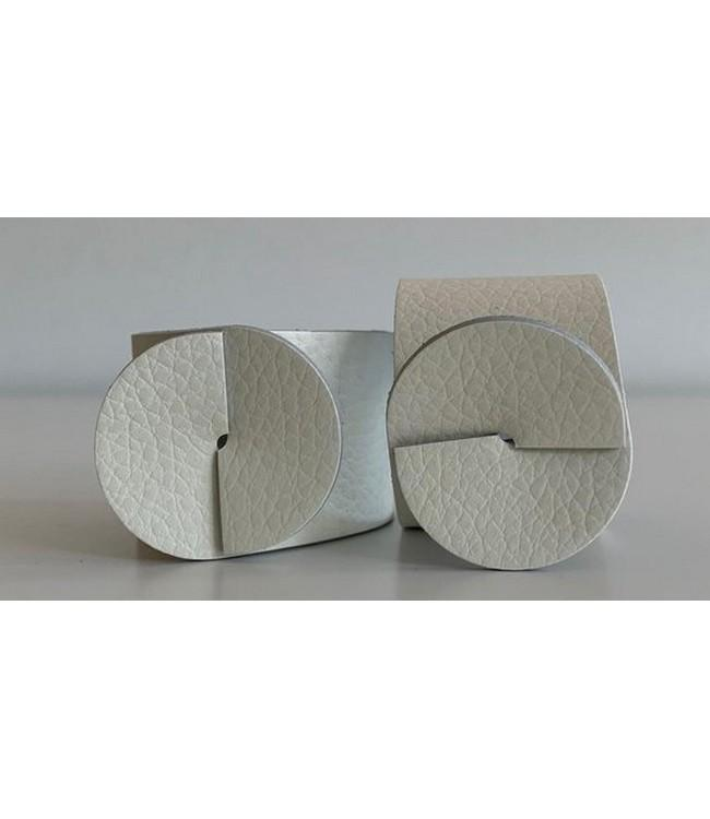 SKINNATUR - napkin ring - Ø 4cm - 12pc - SIMPLY WHITE
