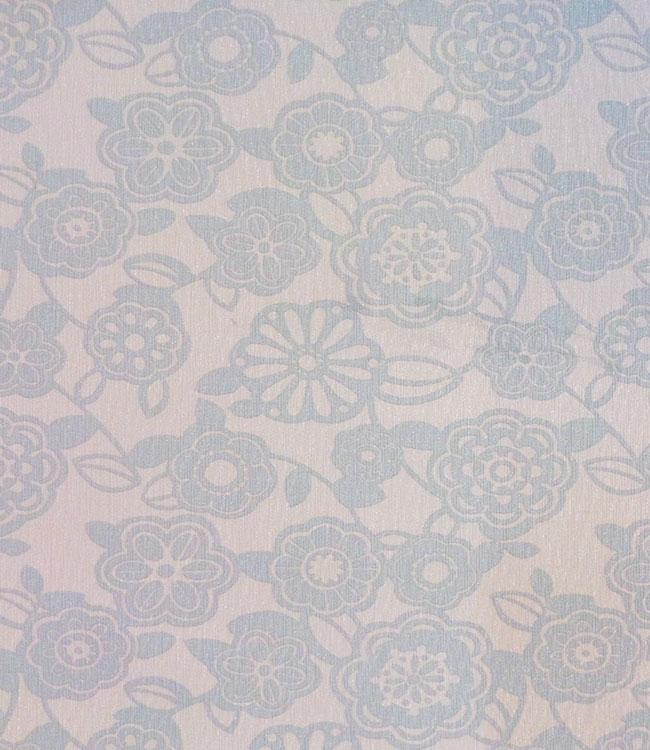 UNINAP - effet textile - 140cm - 15m - FLOWER MINGLE BLU