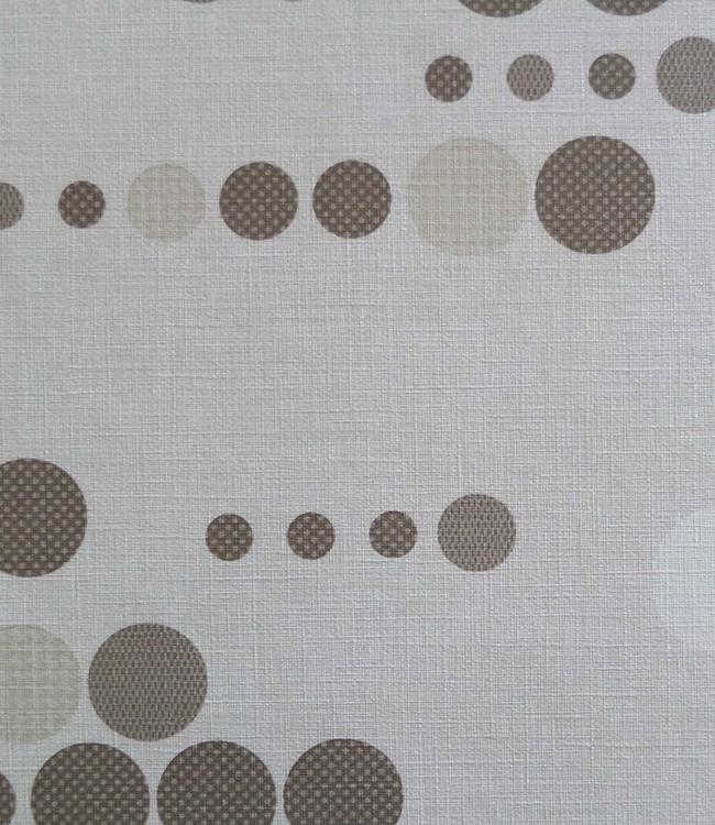 UNINAP - TEXTIEL EFFECT - 140 cm - 15 m. - CIRCLE WHITE